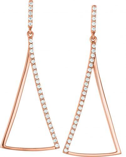 Rosé vergoldeter Ohrhänger mit Zirkonia von Dorotheum Juwelier