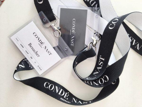 Unsere Besucherausweise beim Condé Nast Verlag
